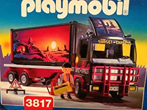 Amazon.com: Playmobil 3817 Sunset Express Semi Truck: Toys & Games