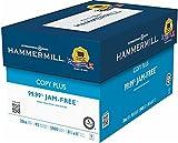 "Hammermill Copy Plus Multipurpose Inkjet & Laser Paper, 8 1/2"" x 11"" Letter, 92 Bright White, 20 lb., 5000 Sheets/Case Carton (105007)"