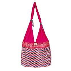 Womaniya Women's Handbag (Red) (Handicraft Jhola Bag)