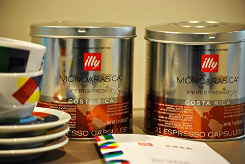 Find Illy Coffee Iperespresso Costa Rica - Set 2 cans of 21 capsules each by Illy
