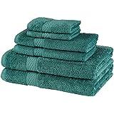 Pinzon 550-Gram Makeup Friendly Cotton 6-Piece Towel Set, Teal