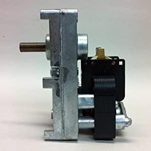 Pellet Stove Auger Gear Motor, 1 RPM, 120 volts, 0.51 amps (Whitfield Quest, Merkle-Korff, Earth sto from Auger Motor