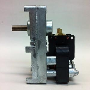 Pellet Stove Auger Gear Motor, 1 RPM, 120 volts, 0.51 amps (Whitfield Quest, Merkle-Korff, Earth sto