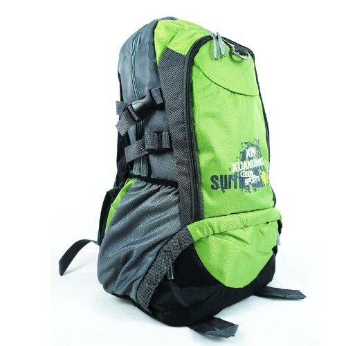 Internal Frame Backpack Shoulder Bag Camping Hiking Trekking Bag Canvas Pack Green front-845631