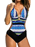 Fourcatz Womens One Piece Cut Out Swimwear Swimsuit