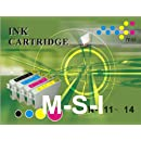 4 Nouvelle Version Premium Qualité Haute Capacité 100% Compatible cartouches d'encre pour Epson Stylus Multipack S22 SX125 SX130 SX230 SX235W SX420W SX425W SX435W SX440W SX445W Office BX305F BX305FW Plus Compatibles avec T1281 T1282 T1283 T1284 T1285 (1noir+1cyan+1magenta+1jaune)