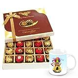 Crisp Sweetness In Wrapped Chocolate Box With Christmas Mug - Chocholik Belgium Chocolates