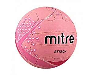Mitre Attack Training Netball - Light Pink/Pink/White, Size 4
