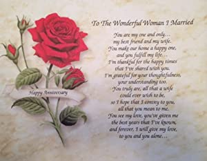 Anniversary Gift Love Poem For Wife To The