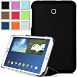Pellem 2014SA Case for Samsung Galaxy Tab 3 Lite Case - Ultra Slim Lightweight Smart Cover Stand Case for Samsung Galaxy Tab 3 Lite 7 Inch Android 2014 Edition Tablet, BLACK