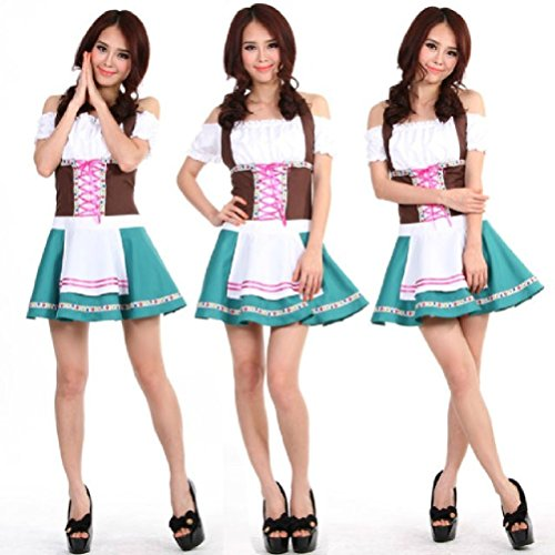 Purplebox Beer Girl Costumes Beer Serving Maid Clothes Cosplay Clothes