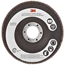 "3M Flap Disc 747D, Ceramic Grain, 4-1/2"" Diameter, 60 Grit (Pack of 1)"