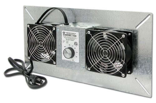 Tjernlund UnderAire Crawl Space Ventilator - Deluxe Two-Fan, 220 CFM, Model# V2D
