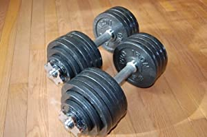Pro Iron Adjustable Dumbbells with Gloss Finish and Secure Fit Collars