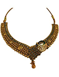 Graykart Meenakari Peacock Design Jewellery Set With Earrings For Women