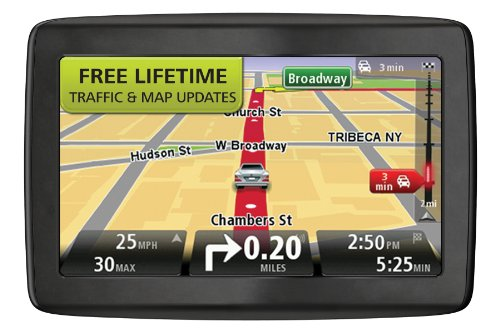 TomTom VIA 1405TM 4.3Inch Portable GPS Navigator with Lifetime Traffic & Maps
