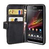 PEDEA Wallet Flip Case for Sony Xperia SP - Black