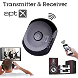 Avantree Saturn Wireless Bluetooth Audio Receiver and Bluetooth Transmitter 2 in 1 adapter, with aptX for Music and TV