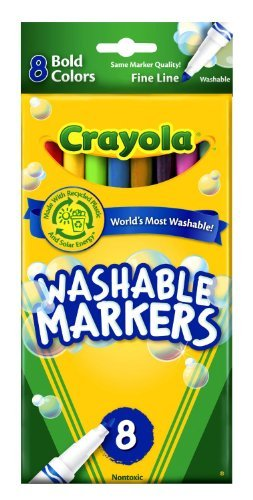 Crayola Washable Markers Bold Colors Fine Tip - 8 Count - 2 Packs
