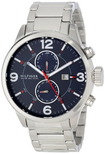 Tommy Hilfiger Men's 1790903 Casual Sport Stainless Steel Blue Dial Multi-Eye Watch