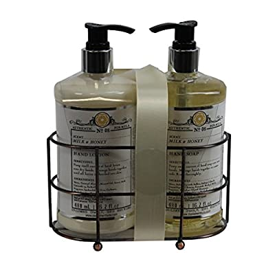 Beaute Essentielle Apothecary Grove Milk and Honey Soap and Lotion Gift Set