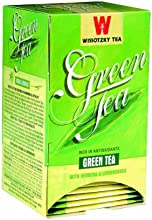 Wissotzky Green Tea with Lemongrass and Verbana 106-Ounce Boxes Pack of 6
