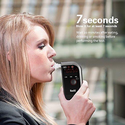 VicTop Fuel Cell Sensor alcootest alcool testeur avec Digital LED Diplay et 4 Becs, Powered by 750mAh Batterie rechargeable pour Pilotes - Professionnel