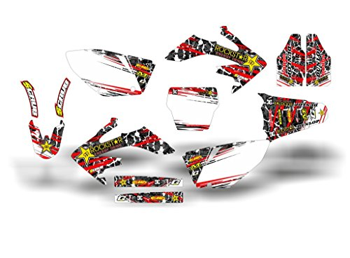 SCRUB DESIGNZ Honda CRF 250R 2004-2005 ROCKSTAR ST complete decals kit (Honda Crf 250r Graphics compare prices)