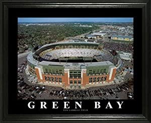 Green Bay Packers - New Lambeau Field Aerial - Lg - Framed Poster Print by Laminated Visuals