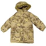 OshKosh Boys Green & Brown Camouflage Puffer Jacket Camo Winter Coat