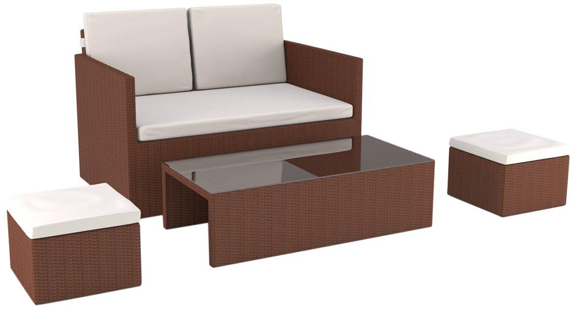 Artelia Lounge Set Danae, Braun jetzt kaufen