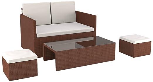 Artelia Lounge Set Danae, Braun