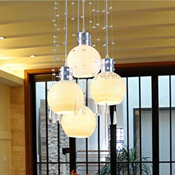 Modern Crystal LED Dining Room Ceiling Pendant Lights White Glass Bottles Res