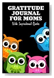Family of Four Colorful Owls Gratitude Journal For Moms