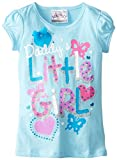 Beautees Little Girls Daddys Little Girl Top, Miami Blue, 5