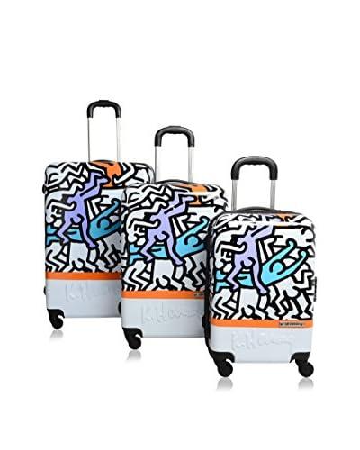 Keith Haring Set de 3 trolleys rígidos
