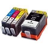 4 Druckerpatronen kompatibel für HP 920 XL 920XL set mit Chip und Füllstand