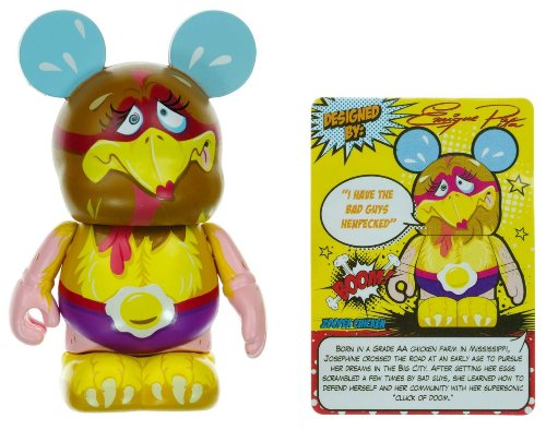 "Zooper Chicken - Disney Vinylmation ~3"" Zooper Heroes Series Designer Figure - 1"