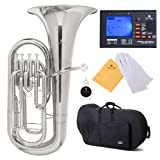 Cecilio 2Series EP-280N Bb Euphonium with Stainless Steel Pistons, Nickel
