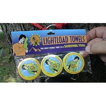 Lightload Towels- Serviettes 30x60cm (3 par paquet) - La seule serviette pouvant également servir d'équipement de survie !