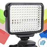 SteadyBRIGHT 120 LED Dimmable Camera Video Light Panel with 2 Color Filters & 3 Mount Options for Nikon D7100 , D3200 , D3100 , D5100 , D5200 , D610 & More!