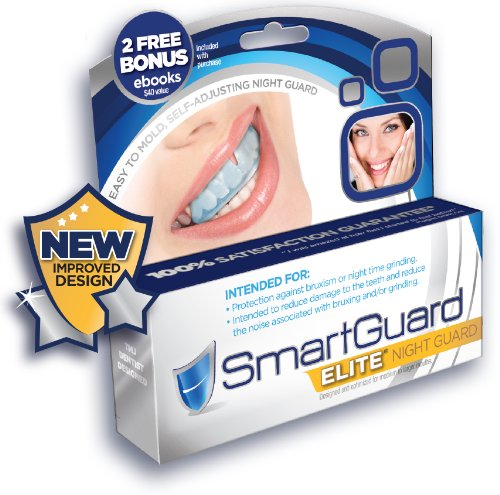 SmartGuard Elite - NEW IMPROVED Night Guard For Teeth Grinding and Bruxism - Mouthguard for Teeth Dental Bite Splint Appliance. TMJ Dentist Designed For Relief of Symptoms of Night Time Clenching and Grinding may include Jaw Pain. 100% Guarantee! (Dental Tmj Appliance compare prices)