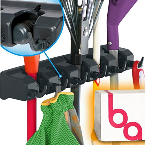 Berry Ave Broom Holder and Garden Tool Organizer for Rake or Mop Handles Up To 1.25-Inches (Door Broom Holder compare prices)