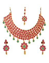 Jewel Mart Antique Necklace Red For Women JMNS006