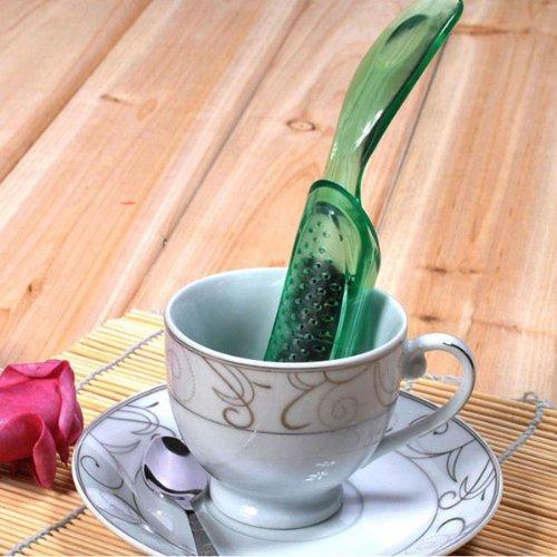Removable Tea Filter Plastic Tea Ball Strainer Tea Spoon Infuser