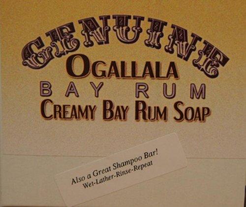 Two (2) Genuine Ogallala Bay Rum CREAMY Bay Rum Bath Soap/Shampoo - 4.5 oz each. Bay Bath