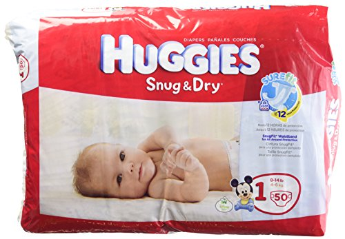 Huggies Diapers Snug and Dry Size 1 Jumbo Pack 50 Count - 1