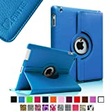 Fintie 360 Degree Rotating Stand Smart Cover PU Leather Case with Wake/Sleep Function for Apple iPad 4th Generation Retina Display/New iPad 3/iPad 2 - Blue