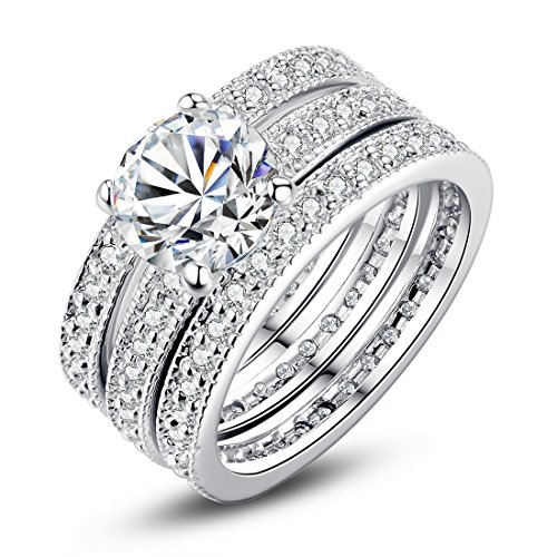 White Gold Cubic Zirconia Rings
