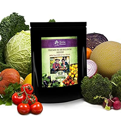 Heirloom Vegetable Seeds,75 Varieties,Organic, Non Hybrid, Non Gmo, Vegetable, Fruit, Culinary and Medicinal Herbs